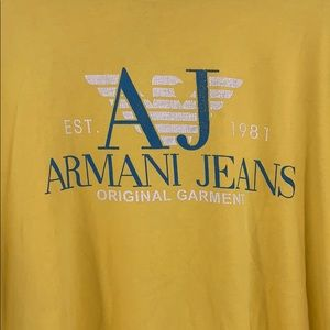 Armani Exchange Shirts - Men's Armani exchange yellow t shirt size xxl